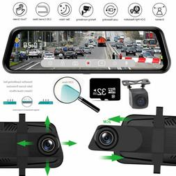 10'' 1080P Car DVR Rear Mirror Dash Cam Camera Night Vision