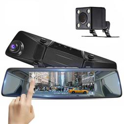 """Camera 7"""" Mirror Dash Cam HD1080P Touch Screen for Car Front"""