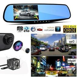 1080 HD Car Dash Camera Front 170+ Rear 120Wide Angle 4.3Inc