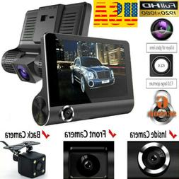 "1080P 4""Car DVR Dual Lens Dash Cam Front and G-sensor Rear V"