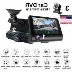 1080P Car DVR Dual Lens Dash Cam Front and Rear Video Record