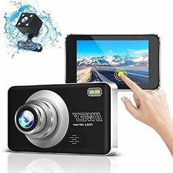 1080P Dual Dash Camera For Cars Front And Rear With Night Vi