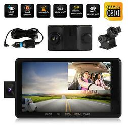 1080P Dual Lens Camera HD Car DVR Dash Cam Video Recorder G-