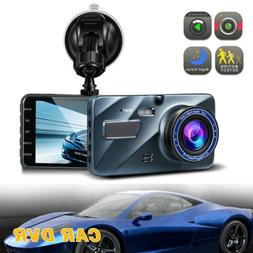 1080P HD Car Dash Camera Front Rear Video Recorder Loop Reco