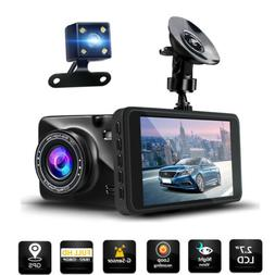 1080P HD Dual Dash Cam Front and Rear Car Dash Camera Record