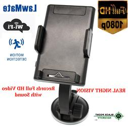 1080P HD WIFI Wireless Dash Vehicle Car Phone Holder Hidden