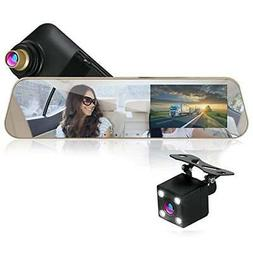 1080p touchscreen vehicle dual dvr dash cam