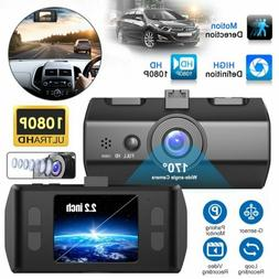 2.2'' Dash Cam FHD 1080P Front and Rear Car Dashboard Camera