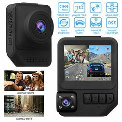 "2.7"" Dual Lens HD 1080P Vehicle Car DVR Dash Cam Video Recor"