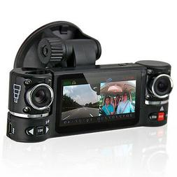 "2.7"" TFT LCD Dual Camera Rotated Lens Car DVR Vehicle Video"