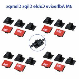 3M Self-adhesive Wire Tie Cable Clamp Clips Holder for Car D