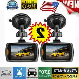2x Car 1080P 2.4 Full HD DVR Camera Dash Cam Video G-sensor