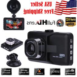 "3.0"" Vehicle 1080P Car Dashboard DVR Camera Video Recorder D"