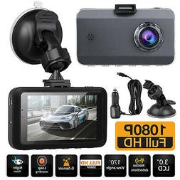 "3"" 1080P Car Camera Recorder Full HD Car Dash Cam Dual Night"