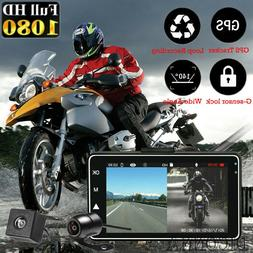 "3"" 1080P HD Motorcycle Camera DVR Motor <font><b>Dash</b></f"