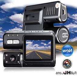 3 Lens 4'' Car DVR 1080P Dash Dashboard Camera Rearview Cam