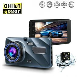 "4"" 1080P HD 140 170 Wide Angle Motion Detection Dash Cam Mir"
