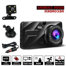 "4""1080P HD 170°Car DVR Dash Cam G-sensor Recorder Loop Reco"