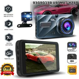 "4"" Car Camera Dash Cam Dual Screen Camera for Trucks Motion"
