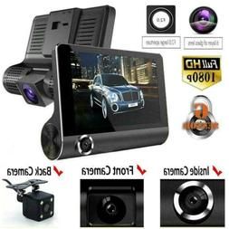 "4""Car DVR Dual Lens Dash Cam Front and G-sensor Rear 1080P V"