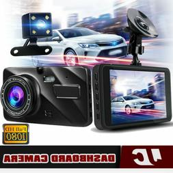 """4"""" Dual Dash Cam Front and Rear Car Truck DVR Dashboard Came"""