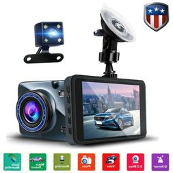 "4"" Vehicle 1080P HD Car Dashboard DVR Camera Dash Cam Loop R"