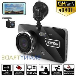 "4"" Vehicle Dash Cam FHD 1080P Car Dashboard DVR Camera Video"