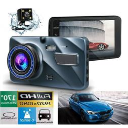 "4"" Vehicle Dashboard Dash Cam Dual Dash Cam Front and Rear G"