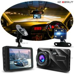 "4"" Video Recorder front and rear Full HD 1080P dash cam micr"