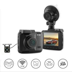 4k dash cam with gps WiFi Car video DVR Recorder dual camera