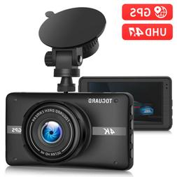 TOGUARD 4K Dash Cam Built-in GPS Dash Camera Cars Recorder C