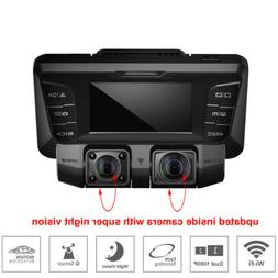 4K hidden Wifi HD Car DVR Video Camera Dash Cam dual lens Ve