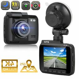 4K Ultra HD 2160P - Built-In WiFi & GPS Parking Mode Dash Ca