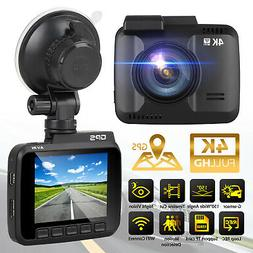 4K Ultra HD 2160P GPS Camera Rear Car DVR Dash Cam Video Rec
