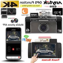4k wifi 1080p dash cam camera dual