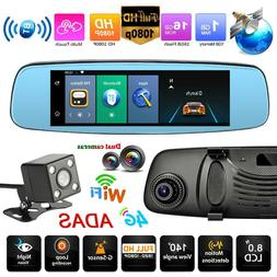 7.84in 4G WiFi HD 1080P Android 5.1 Car Rearview Mirror DVR