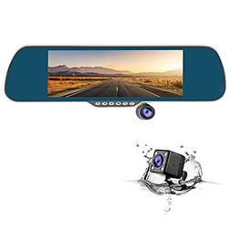"CHICOM 7"" Dash Cam 350 Degree Rotating Camera Dual Lens dv"