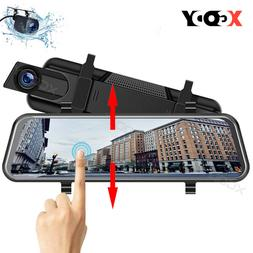 Lenovo 4.5'' Dual Lens Car DVR Vehicle Rearview Mirror Camer