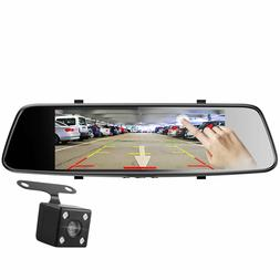 7'' Touch Screen Backup Camera Dash Cam Front and Rear Dual