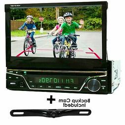 "7"" TOUCHSCREEN 1 Din Car audio Stereo DVD Player HD In Dash"