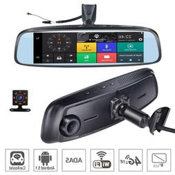 8'' 4G Car DVR camera GPS Android 5.1 Car RearView Mirror Ca