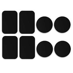 Orcbee  _8-Pack Metal Plates Adhesive Sticker Replace for M