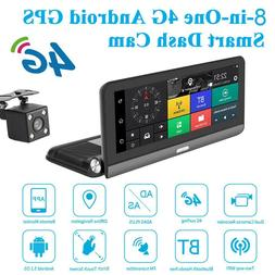 8inch Touch Screen 4G 1080p Car DVR Camera GPS Dual Lens Das