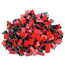 KEDSUM 200pcs Adhesive Cable Clips, Wire Clips, Car Cable Or