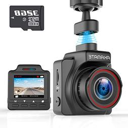 AKAMATE AMA000C1L Dash Cam, Magnetic Dashboard Recording Cam
