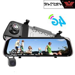 """ANSTAR 10""""IPS 4G Rear View Mirror Dash Cam Android 5.1 GPS N"""