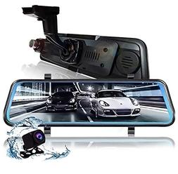 Auto Camera Dash cam 9.66 Inch Full HD 1080P Media Screen wi