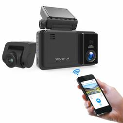 AUTO-VOX AD2 WiFi Dual Lens Dash cam Front and Rear FHD 1080