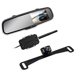 Wireless Backup Camera Mirror with IP 68 Waterproof Back Up