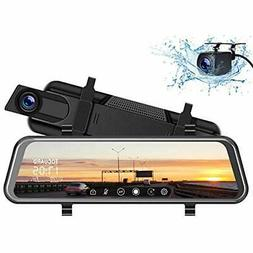 "TOGUARD Backup InMirror Video Camera 10"" Dash Cam, Front And"